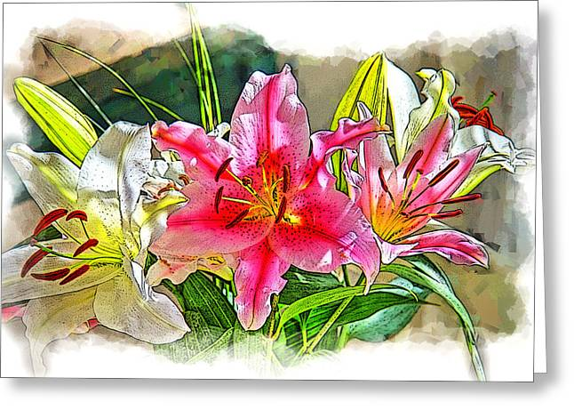 Staley Greeting Cards - Flower Arrangement Greeting Card by Chuck Staley
