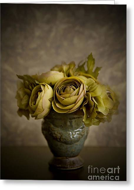 Warm Tones Photographs Greeting Cards - Flower Arrangement Greeting Card by Diane Diederich