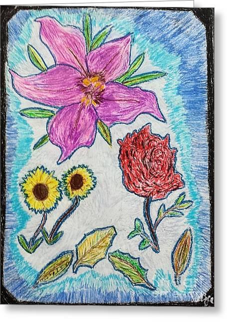 Leaves Greeting Cards - Flower Arranging Greeting Card by Lisa Byrne