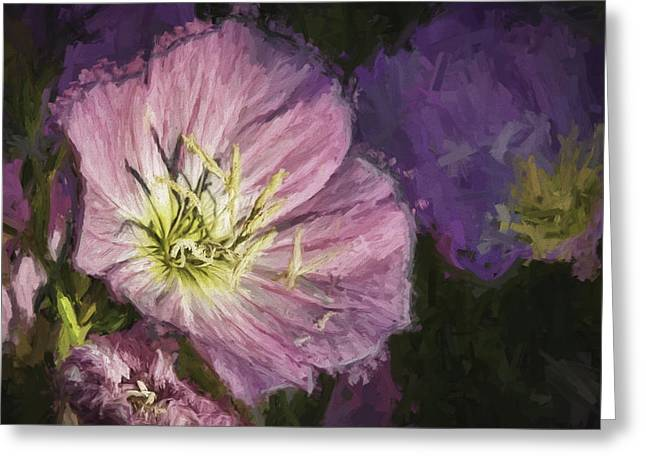 Ike Krieger Greeting Cards - Flower at 4PM Greeting Card by Ike Krieger