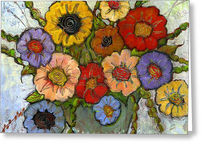 Colorful Flower Greeting Cards - Flower Bouquet Greeting Card by Blenda Studio