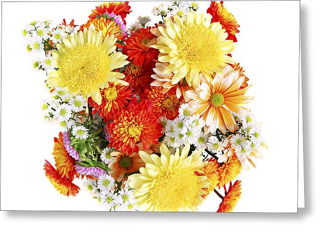 Cheerful Photographs Greeting Cards - Flower bouquet Greeting Card by Elena Elisseeva