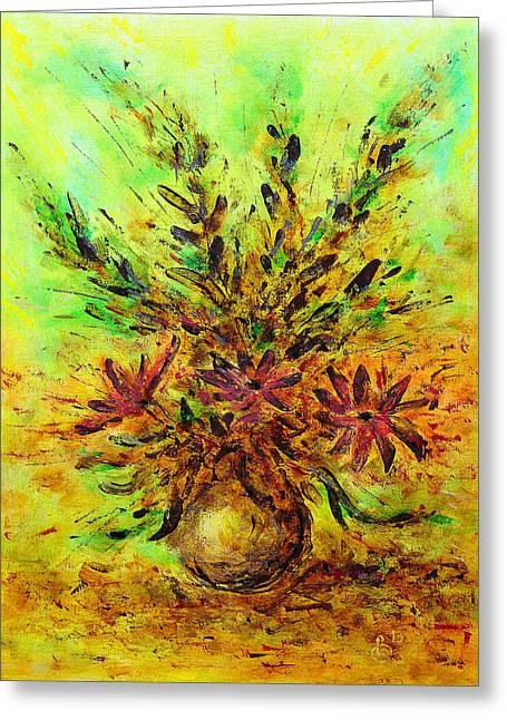Flower Still Life Prints Greeting Cards - Flower bouquet Greeting Card by Jiri Capek