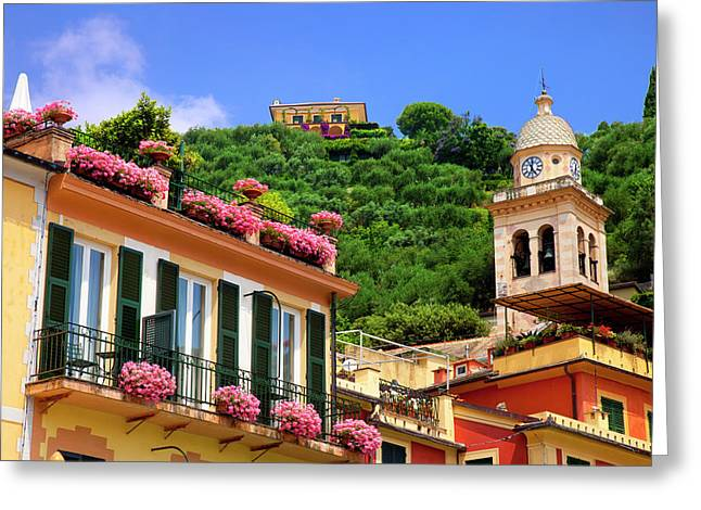 Flower Boxes And Building Details Greeting Card by Brian Jannsen