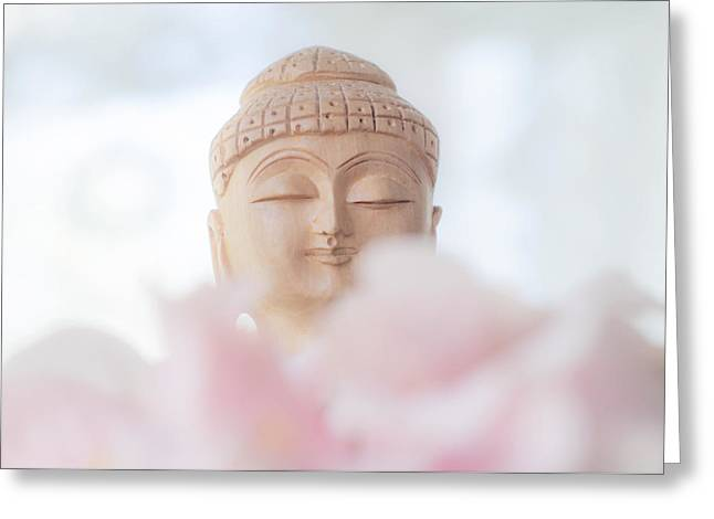 Inner World Greeting Cards - Flower Buddha 1 Greeting Card by Jenny Rainbow