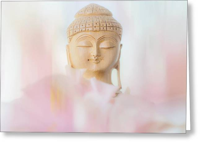 Inner World Greeting Cards - Flower Buddha 2 Greeting Card by Jenny Rainbow