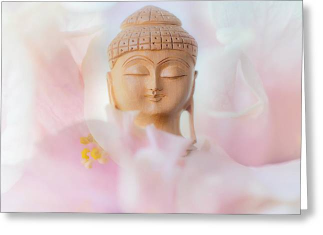 Inner World Greeting Cards - Flower Buddha 3 Greeting Card by Jenny Rainbow