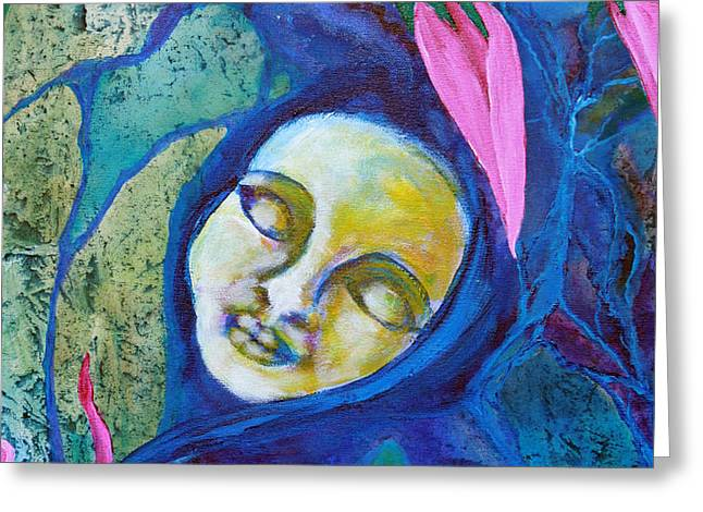 Flower Child Dreams Greeting Card by Shelley Bredeson