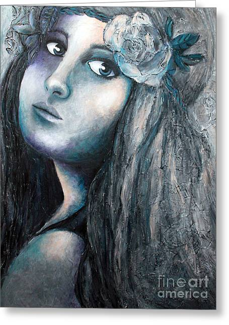 Home Art Greeting Cards - Flower child Greeting Card by Home Art