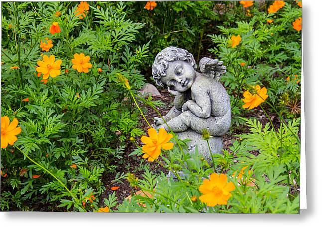 Sit-ins Greeting Cards - Flower Child Greeting Card by Robert Kinser