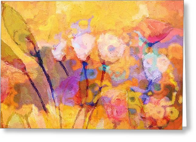 Painted Flowers Greeting Cards - Flower Concerto Greeting Card by Lutz Baar