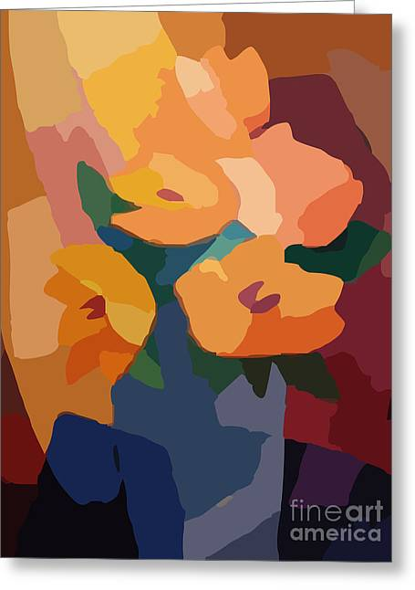 Floral Artwork Greeting Cards - Flower Deco I Greeting Card by Lutz Baar