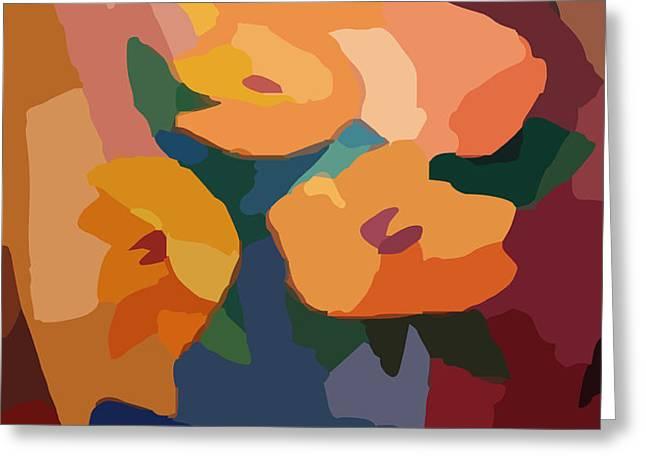 Flower Deco I Greeting Card by Lutz Baar