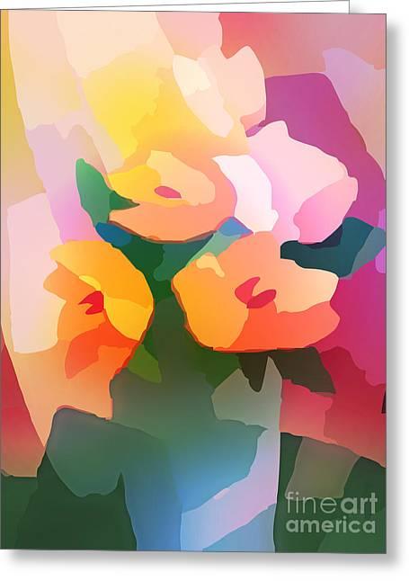 Floral Artwork Greeting Cards - Flower Deco II Greeting Card by Lutz Baar