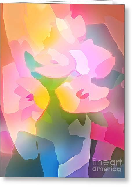 Floral Artwork Greeting Cards - Flower Deco III Greeting Card by Lutz Baar