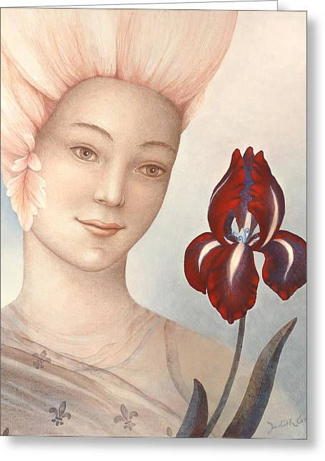Observer Greeting Cards - Flower Fairy Greeting Card by Judith Grzimek