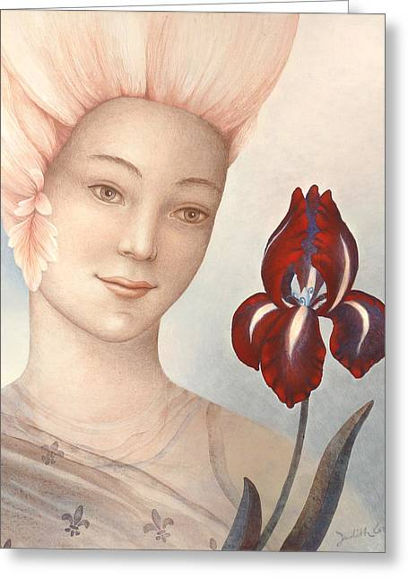 New Mind Paintings Greeting Cards - Flower Fairy Greeting Card by Judith Grzimek
