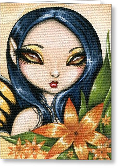 Fantasy Greeting Cards - Flower Fairy Kasumi Greeting Card by Elaina  Wagner
