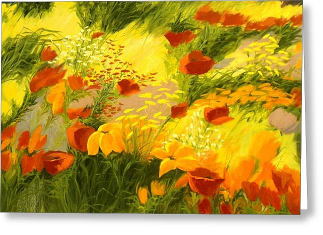 Breezy Greeting Cards - Flower Fantasy Greeting Card by Madeleine Holzberg