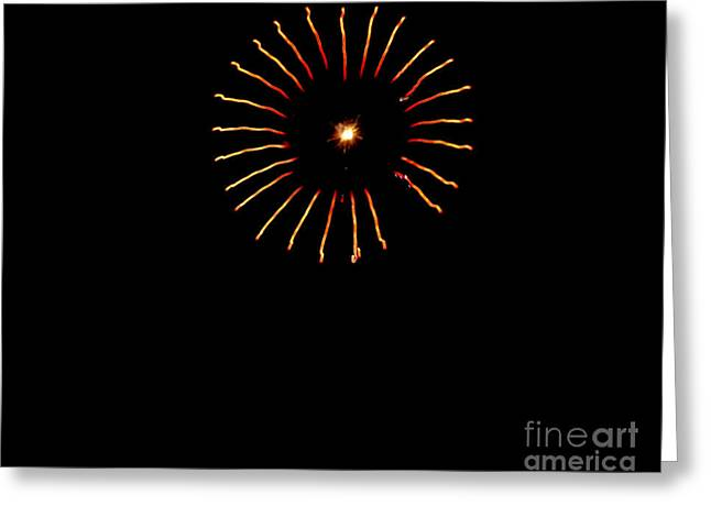 4th July Photographs Greeting Cards - Flower Fireworks Greeting Card by Robert Bales