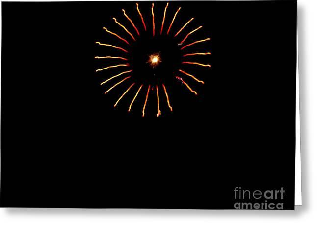 Flower Fireworks Greeting Card by Robert Bales