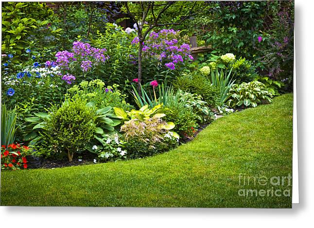 Flower garden Greeting Card by Elena Elisseeva
