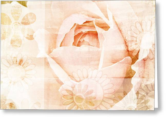 Chic Mixed Media Greeting Cards - Flower Garden Greeting Card by Frank Tschakert