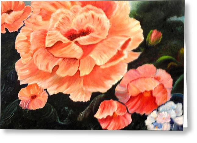 Flower Garden Greeting Card by Janis  Tafoya