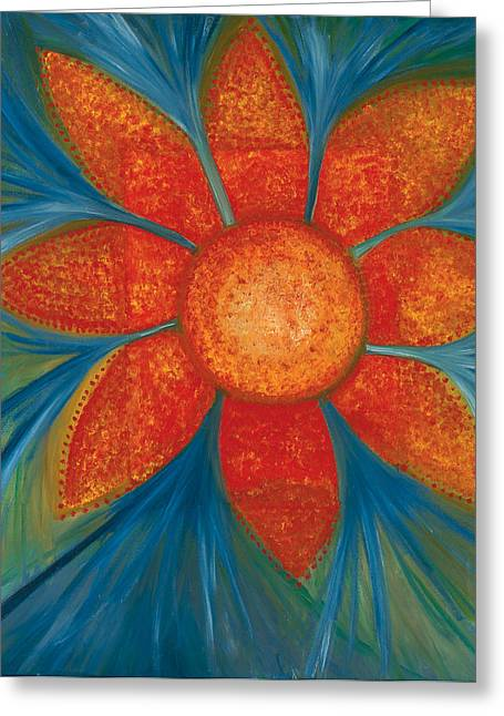 Flower Jewelry Greeting Cards - Flower Garden Sutra Greeting Card by Jessica Rosen