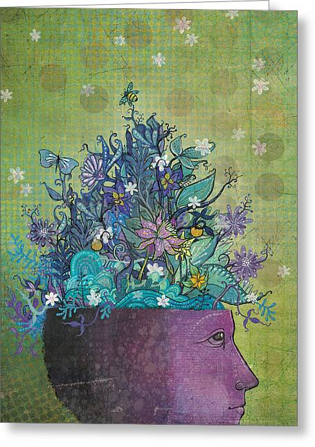 Dennis Wunsch Greeting Cards - Flower-head1 Greeting Card by Dennis Wunsch