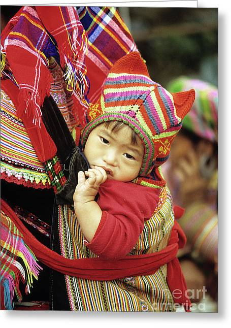 Ethnic Minority Greeting Cards - Flower Hmong Baby 01 Greeting Card by Rick Piper Photography
