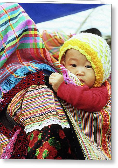 Southeast Asian Greeting Cards - Flower Hmong Baby 04 Greeting Card by Rick Piper Photography