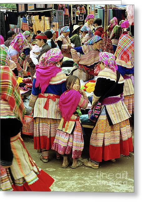 Ethnic Minority Greeting Cards - Flower Hmong Girl 01 Greeting Card by Rick Piper Photography