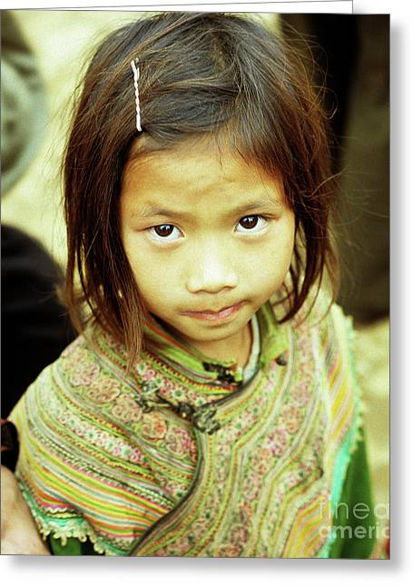 Ethnic Minority Greeting Cards - Flower Hmong Girl 02 Greeting Card by Rick Piper Photography