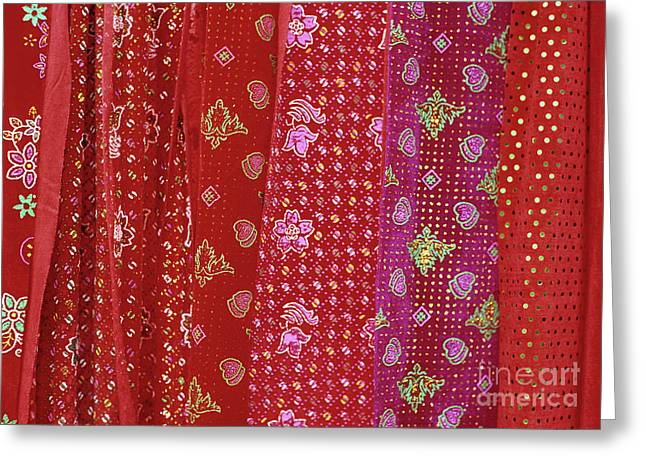 Ethnic Minority Greeting Cards - Flower Hmong Velvet Greeting Card by Rick Piper Photography