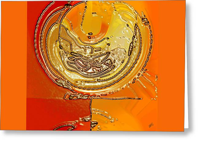 Tangerine Greeting Cards - Flower II Greeting Card by Ben and Raisa Gertsberg