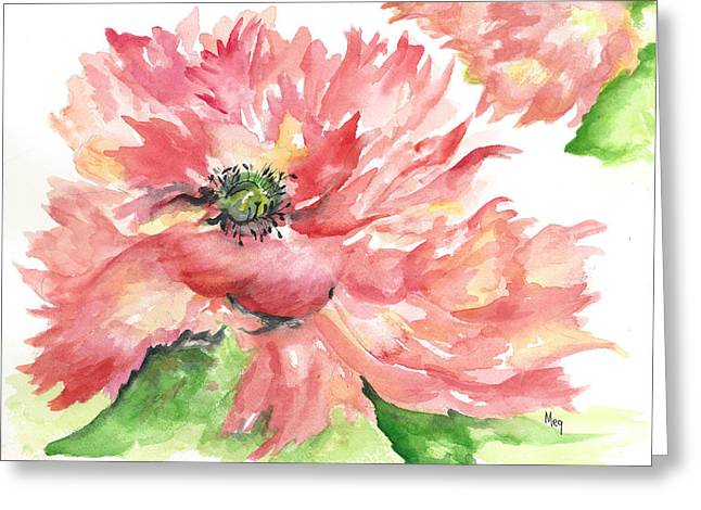 Meg Greeting Cards - Flower in the Wind Greeting Card by Meg Doolittle