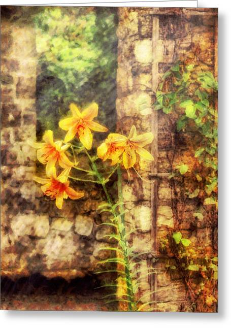 Day Lilly Greeting Cards - Flower - Lily - Yellow Lily  Greeting Card by Mike Savad