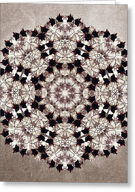 Flower Mandala Greeting Card by Filippo B