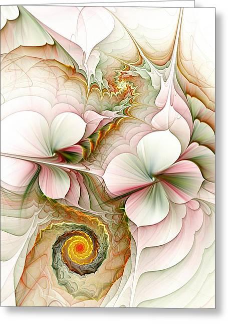 Experience Mixed Media Greeting Cards - Flower Motion Greeting Card by Anastasiya Malakhova