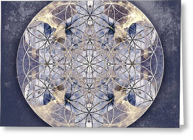 Recently Sold -  - Science Greeting Cards - Flower of Enlightenment Greeting Card by Filippo B