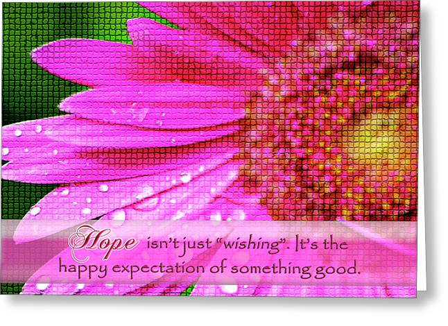 Dewdrops Digital Greeting Cards - Flower of Hope Greeting Card by Carolyn Marshall