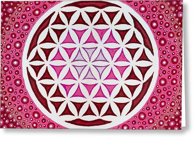 Christopher Sheehan Greeting Cards - Flower of Life Greeting Card by Christopher Sheehan
