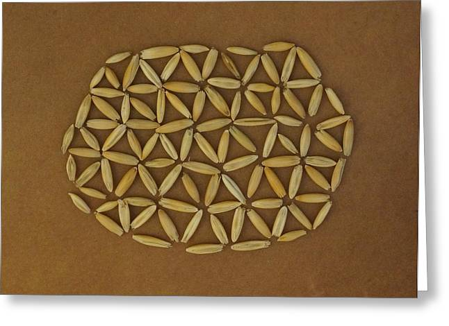 Local Food Greeting Cards - Flower of Life Greeting Card by Jon Simmons