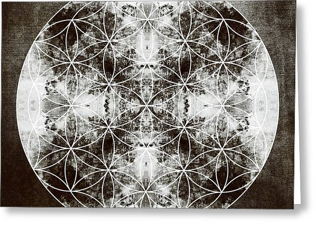 Yantra Greeting Cards - Flower of Life s Greeting Card by Filippo B