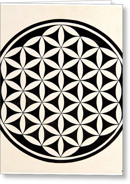 Transformation Of Life Greeting Cards - Flower of life Greeting Card by Sohel Mehboob