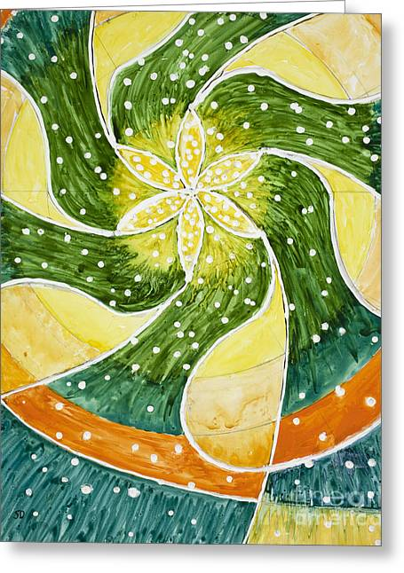 Flower Of Life Greeting Card by Susan Driver