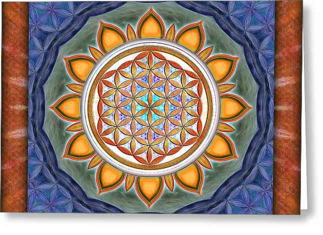 Blume Greeting Cards - Flower of live - Kaleidoscope Greeting Card by Dirk Czarnota