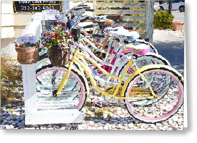 Day Greeting Cards - Flower on a bicycle 2 Greeting Card by Lanjee Chee