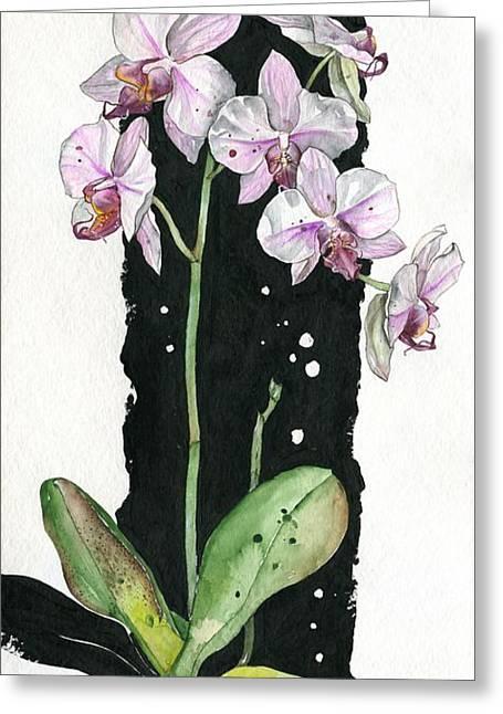 Flower Orchid 02 Elena Yakubovich Greeting Card by Elena Yakubovich
